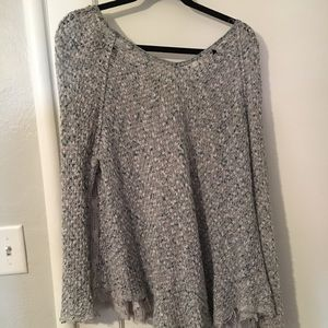 Distressed Knit Free People Lace Sweater